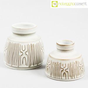 Ceramiche Franco Pozzi, coppia piccoli vasi con decori, Ambrogio Pozzi (1)
