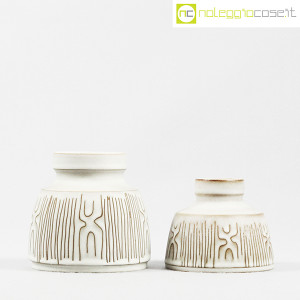 Ceramiche Franco Pozzi, coppia piccoli vasi con decori, Ambrogio Pozzi (2)