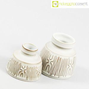 Ceramiche Franco Pozzi, coppia piccoli vasi con decori, Ambrogio Pozzi (3)