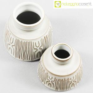 Ceramiche Franco Pozzi, coppia piccoli vasi con decori, Ambrogio Pozzi (4)