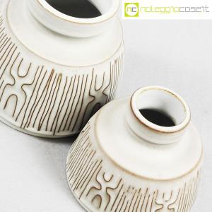 Ceramiche Franco Pozzi, coppia piccoli vasi con decori, Ambrogio Pozzi (6)