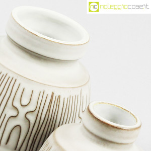 Ceramiche Franco Pozzi, coppia piccoli vasi con decori, Ambrogio Pozzi (8)