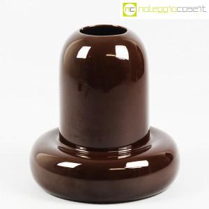 Ceramiche Franco Pozzi, vaso in ceramica marrone, Ambrogio Pozzi (1)