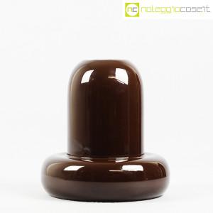 Ceramiche Franco Pozzi, vaso in ceramica marrone, Ambrogio Pozzi (2)