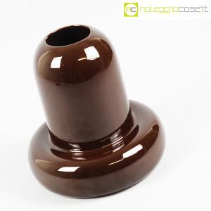 Ceramiche Franco Pozzi, vaso in ceramica marrone, Ambrogio Pozzi (3)