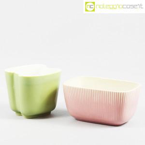 Richard Ginori, piccoli vasi verde e rosa (1)
