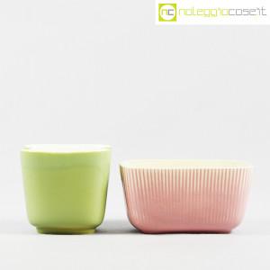 Richard Ginori, piccoli vasi verde e rosa (2)