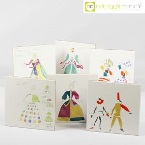 Baldelli Ceramiche, piastrelle con disegni Costumi, Gio Ponti (1)