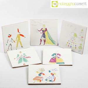 Baldelli Ceramiche, piastrelle con disegni Costumi, Gio Ponti (2)