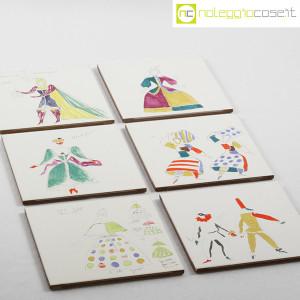 Baldelli Ceramiche, piastrelle con disegni Costumi, Gio Ponti (3)