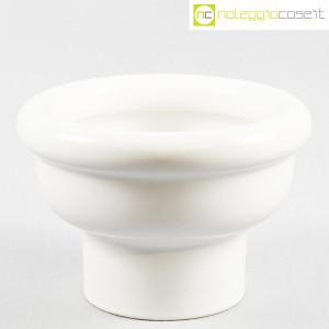 Ceramiche Bucci, vaso coppa bianco in ceramica, Franco Bucci (1)