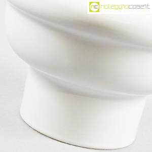 Ceramiche Bucci, vaso coppa bianco in ceramica, Franco Bucci (7)