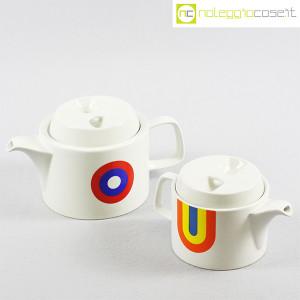 Ceramiche Franco Pozzi, teiere serie Compact con decoro Allegria, Ambrogio Pozzi (1)