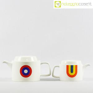 Ceramiche Franco Pozzi, teiere serie Compact con decoro Allegria, Ambrogio Pozzi (2)