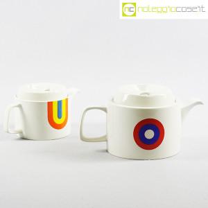Ceramiche Franco Pozzi, teiere serie Compact con decoro Allegria, Ambrogio Pozzi (3)