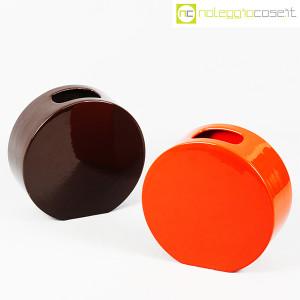 Ceramiche Franco Pozzi, vasi marrone e arancio serie Strutture Primarie (1)