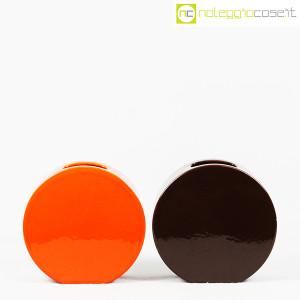 Ceramiche Franco Pozzi, vasi marrone e arancio serie Strutture Primarie (2)