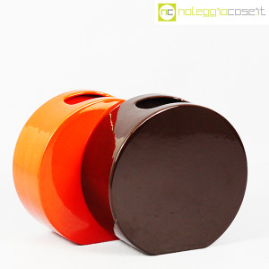 Ceramiche Franco Pozzi, vasi marrone e arancio serie Strutture Primarie (3)