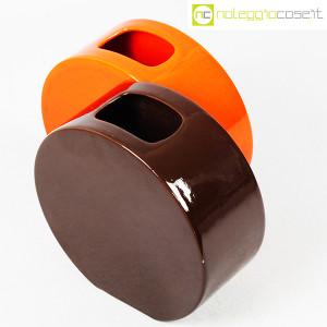 Ceramiche Franco Pozzi, vasi marrone e arancio serie Strutture Primarie (4)