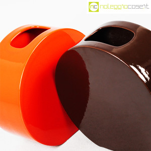 Ceramiche Franco Pozzi, vasi marrone e arancio serie Strutture Primarie (5)