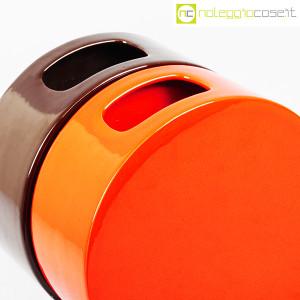 Ceramiche Franco Pozzi, vasi marrone e arancio serie Strutture Primarie (6)