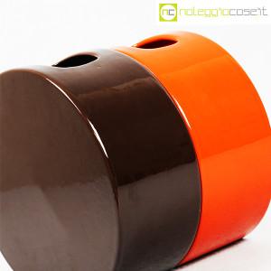 Ceramiche Franco Pozzi, vasi marrone e arancio serie Strutture Primarie (7)
