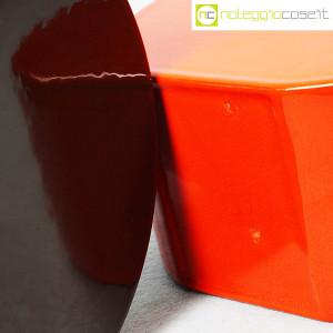 Ceramiche Franco Pozzi, vasi marrone e arancio serie Strutture Primarie (8)