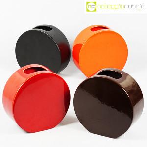 Ceramiche Franco Pozzi, vasi marrone e arancio serie Strutture Primarie (9)