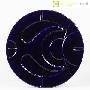 Franz Sartori, scultoreo grande piatto in ceramica blu a rilievo (1)