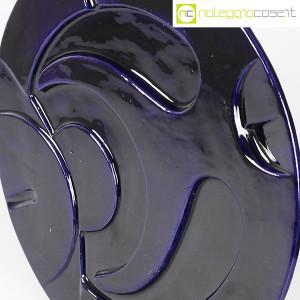 Franz Sartori, scultoreo grande piatto in ceramica blu a rilievo (5)