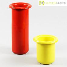 Rometti coppia vasi rosso e giallo