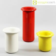 Rometti vasi bianco rosso e giallo