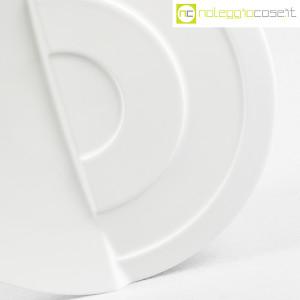 Rosenthal, piatto bianco con decoro a rilievo (6)