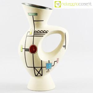 Ceramiche Albissola, vaso alto con decori geometrici (1)