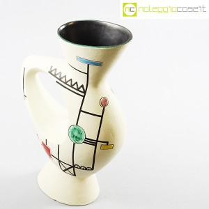 Ceramiche Albissola, vaso alto con decori geometrici (4)