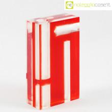 Guzzini vaso rosso in plexi
