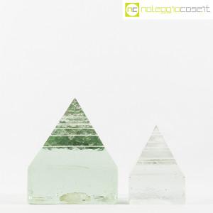 Piramidi in vetro pieno lavorato (2)