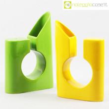 Vasi colore verde e giallo in ceramica