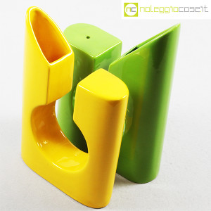 Vaso colore verde e giallo in ceramica (4)