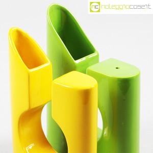 Vaso colore verde e giallo in ceramica (6)