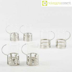Bodum, set tazze in metallo e vetro, George Sowden (2)