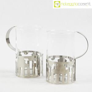 Bodum, set tazze in metallo e vetro, George Sowden (4)