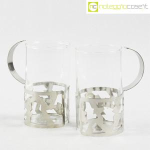 Bodum, set tazze in metallo e vetro, George Sowden (5)