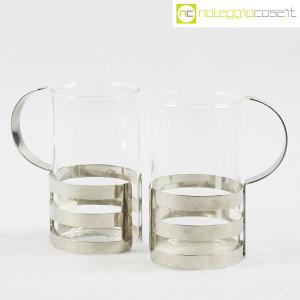 Bodum, set tazze in metallo e vetro, George Sowden (6)