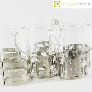 Bodum, set tazze in metallo e vetro, George Sowden (7)