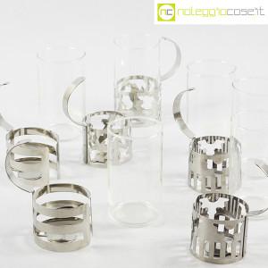 Bodum, set tazze in metallo e vetro, George Sowden (8)