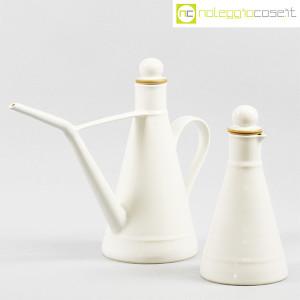 Ceramiche Bucci, set olio e aceto in ceramica bianco, Franco Bucci (1)