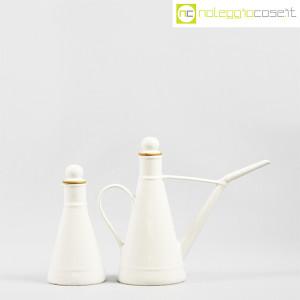 Ceramiche Bucci, set olio e aceto in ceramica bianco, Franco Bucci (2)