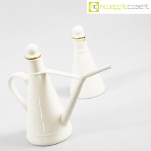 Ceramiche Bucci, set olio e aceto in ceramica bianco, Franco Bucci (3)