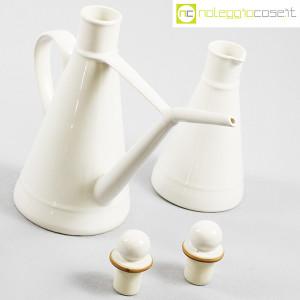 Ceramiche Bucci, set olio e aceto in ceramica bianco, Franco Bucci (5)